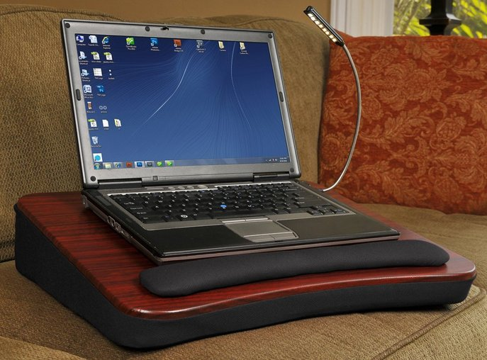 Sofia + Sam Memory Foam Lap Desk with USB Light